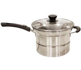 【蒸锅】不锈钢汤锅无磁复底面条锅加厚煮面油炸多用料理蒸锅单柄