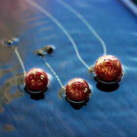 赤云珠漆艺首饰套装 | 项链耳环转运礼物