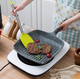 【煎锅】麦饭石不粘牛排煎盘方形条纹平底不粘煎锅