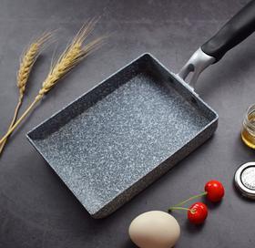 【煎锅】日式麦饭石玉子烧锅煎锅不粘锅小方形平底锅煎