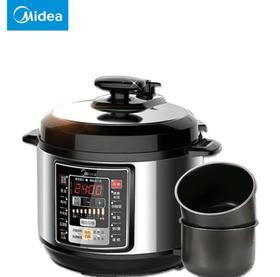 【高压锅】Midea/美的 MY-CS6001P电压力锅双胆6L大容量家用智能高压锅