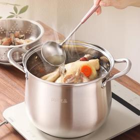 【蒸锅】汤锅蒸锅不绣钢304燃气电磁炉家用深锅加厚煮粥煲汤蒸格蒸煮锅笼