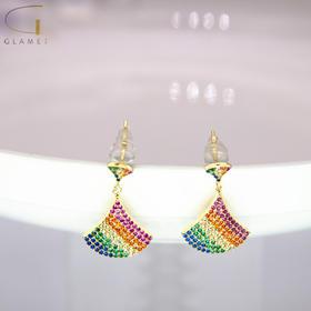 尚镁韩版时尚小裙子耳钉 J90016
