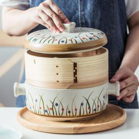 【蒸锅】2.5L日式蒸笼砂锅家用炖锅陶瓷煲汤明火耐高温熬汤锅多用途