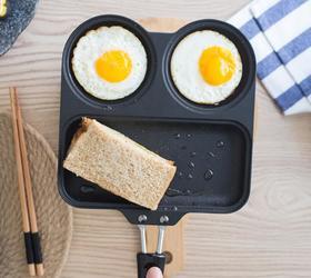 【煎锅】金属早餐煎锅铝合金平底不粘煎锅可爱创意煎饼锅