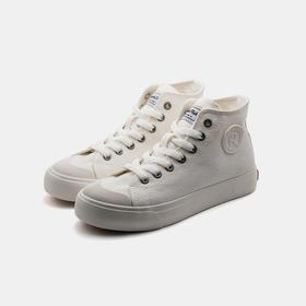 【梅根王妃同款】防泼水 弹性设计 丨ROCKFISH 复古帆布鞋小白鞋