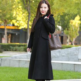 VIPHUIOS国民风米色双面魔幻羊绒大衣 18201