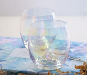 日式炫彩冰山玻璃杯 创意生日礼物 节日礼盒装水杯果汁杯酒杯套装