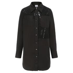 MAISON COVET自有品牌 蕾丝镂空设计长款衬衫