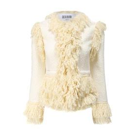 Greta Boldini  羊羔毛流苏外套