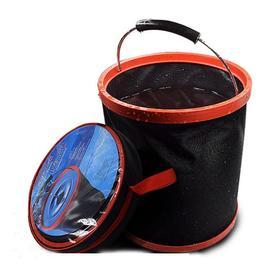【清洁工具】12L多功能汽车折叠水桶 2000D牛津布钓鱼水桶 洗车水桶 带圆包