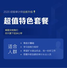2020年初级审计师(超值特色班) 精讲班+习题班+智能题库