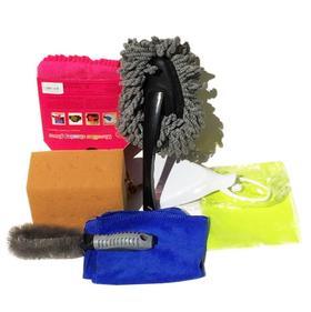 【清洁工具】汽车洗车套装 家车两用清洁套装 车用清洁工具用品七件套