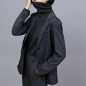 【买套装送真皮腰带】IN AND ON混纺色量裁西装西裤外套   柔软挺括质地舒适,悬垂不易皱显高又显瘦