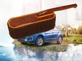 【清洁工具】汽车除尘掸子棉蜡刷 清洁工具洗车用品 实木手把扫灰浸油刷子