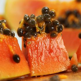 云南 •  大青红心牛奶木瓜  脆爽清甜 果肉红润 热带阳光的清甜 减脂又美颜
