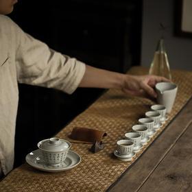 家用盖碗陶瓷日式仿古茶道办公室纯手工茶具简约