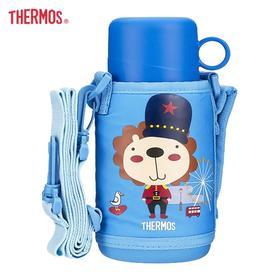 日本THERMOS膳魔师儿童不锈钢双盖保温杯550ml TCKA-551F