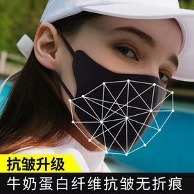 【FDA认证,PM2.5过滤率99.9%】无惧水洗!负离子轻肤无尘防护口罩,透气冰丝棉,抗雾霾紫外线,防颗粒粉尘