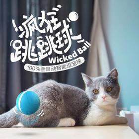 疯狂跳跳球 Wicked Ball  智能宠物玩具 全自动陪玩 智能伴侣 防水 超长续航 wickedball