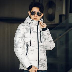 【雪地迷彩】轻型防寒外套(送帽绳耳机)