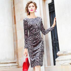 FMY26101新款豹纹性感包臀裙TZF
