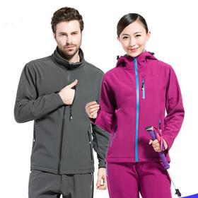 全能型户外探险运动软壳服套装 防水透气防风保暖舒适情侣衣服套装