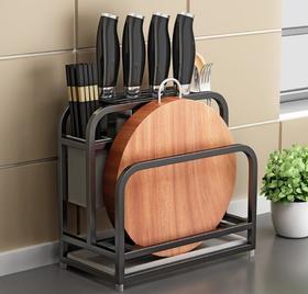 【厨房配件】不锈钢刀架置物架厨房用品菜刀菜板架可调节双砧板架