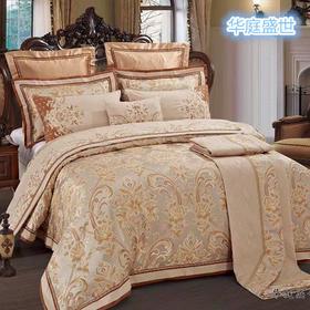 奢华提花床盖十件套-华庭盛世