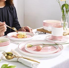 【餐具】北欧风ins网红简约家用陶瓷餐具碗盘日式创意欧式碗盘碟套装