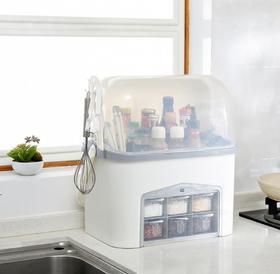 【厨房配件】厨房调料收纳盒置物架放盐糖用品调味罐套装