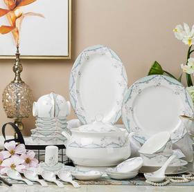 【餐具】欧式家用骨瓷创意简约景德镇陶瓷碗盘组合餐具