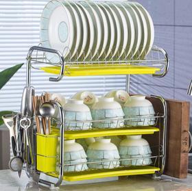 【厨房配件】厨房置物架用品晾洗放三层沥水碗架碗柜碗碟碗筷餐具架