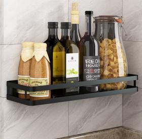 【厨房配件】304不锈钢厨房置物架调味用品收纳免打孔多功能调料架卫生间壁挂