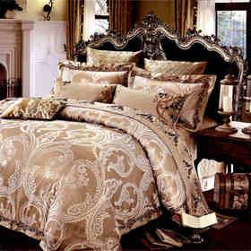 奢华提花床盖十件套