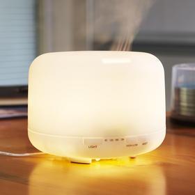 超声波香薰机 暖光灯或彩光灯 负离子空气净化器 精油扩香机 水箱500ml