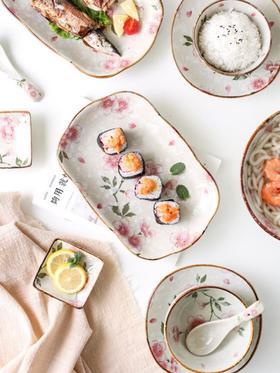 【餐具】陶瓷套装 碗盘日式碗碟家用釉下彩组合套餐网红大众餐具套装礼盒