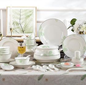 【厨房餐具】陶瓷餐具景德镇套装简约日用礼品骨瓷碗 盘 碟组合
