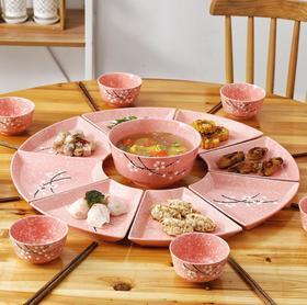 【餐具】抖音同款团圆日式陶瓷拼盘餐具家庭聚餐盘