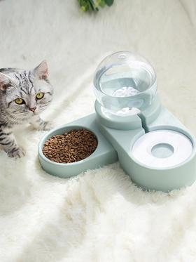 【新品】 喜归 | 美芙猫碗狗碗 双碗饮水器喝水喂食碗 自动饮水,蓝粉两色可选