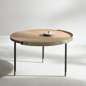 camino简约摩登咖啡矮桌茶几(原色/烟熏)+北欧风FERNANDO流线造型地灯气氛灯(3色可选)