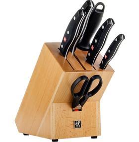 【刀具】双立人 波格斯系列榉木插架7件套刀具套装