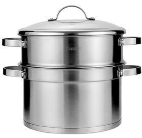 【锅具】家用加厚戴德304不锈钢三层蒸锅2层小蒸笼蒸2层 燃气电磁炉锅