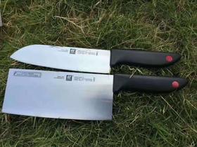 【刀具】双立人红点两件套刀具厨房工具 刀具套装不锈钢菜刀多功能刀