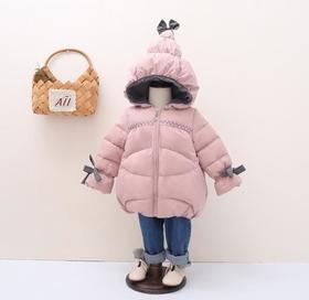 【女童棉服】.*冬季新款儿童羽绒服中小女童个性连帽短款加厚羽绒服韩版外套 | 基础商品