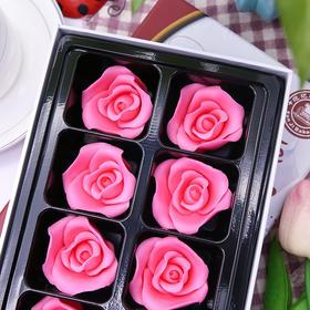 粉色玫瑰花礼盒