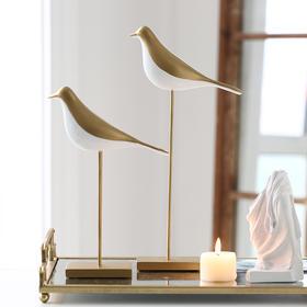 北欧轻奢风站立金色小鸟摆件创意家居饰品客厅玄关桌面装饰品摆设