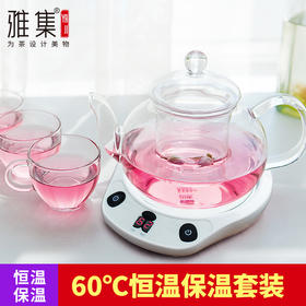雅集 熊时代花茶壶保温套装 电泡茶壶恒温保温茶具