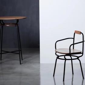 camino北欧风格设计品牌|2019新品GRACEFUL REINA桌椅组 椅子 桌子 圆桌 高脚桌 长桌 长凳