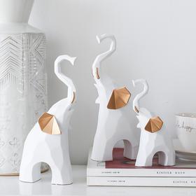 轻奢风树脂大象摆件创意家居客厅餐桌电视柜桌面装饰品房间布置